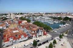 Widok z lotu ptaka La Rochelle, Francja Zdjęcie Royalty Free