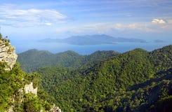 Widok z lotu ptaka Langkawi wyspa Zdjęcie Royalty Free