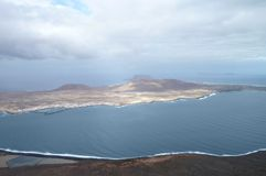 Widok z lotu ptaka Lanzarote Zdjęcia Stock