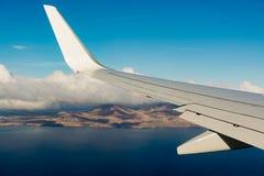 Widok z lotu ptaka Lanzarote powulkaniczna wyspa, pięć minut przed losem angeles Obrazy Royalty Free