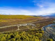 Widok z lotu ptaka las w dalekim wschodzie, Rosja zdjęcie stock