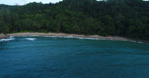Widok z lotu ptaka linia brzegowa plaża w Phuket i morze zbiory wideo