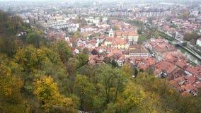 Widok z lotu ptaka Ljubliana pejzaż miejski zbiory