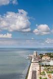 Widok z lotu ptaka lokalizować na Tagus rzece Belem wierza, Lisbon, P Obraz Royalty Free