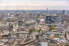 Widok z lotu ptaka Londyński śródmieście obraz stock