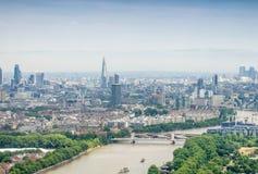 Widok z lotu ptaka Londyńscy budynki, UK Obrazy Royalty Free
