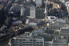 Widok z lotu ptaka Londyn od Walkie Talkie budynku na 20 Fenchurch ulicie Zdjęcie Stock