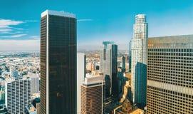 Widok z lotu ptaka Los Angeles, CA Zdjęcie Stock