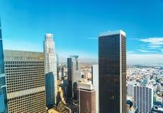Widok z lotu ptaka Los Angeles, CA Obraz Stock