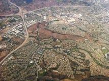 Widok z lotu ptaka Los Angeles miasto, usa Fotografia Stock