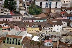 Widok z lotu ptaka los angeles Ronda w Quito Starym miasteczku Obrazy Stock