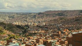 Widok Z Lotu Ptaka losu angeles Paz miasto, Boliwia zbiory