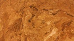 widok z lotu ptaka lot nad powierzchnią planeta Mars zdjęcie wideo