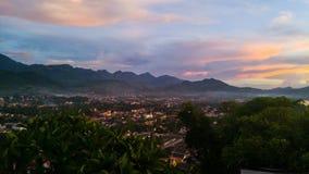 Widok z lotu ptaka Luang Prabang, Laos Obrazy Royalty Free