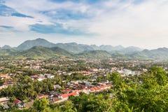 Widok z lotu ptaka Luang Prabang w Laos Zdjęcie Royalty Free
