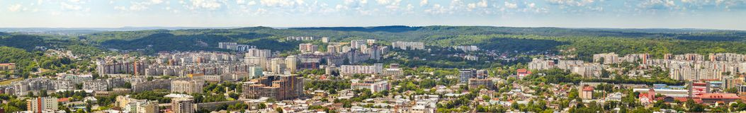Widok Z Lotu Ptaka Lviv miasto Panorama z nowożytnymi budynkami i urb Obrazy Stock