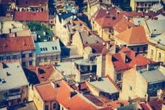 Widok z lotu ptaka Lvov miasto, Ukraina Zdjęcia Royalty Free