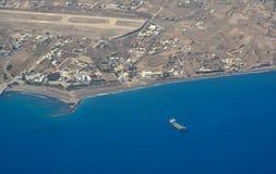 Widok z lotu ptaka małe wyspy obraz stock