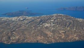 Widok z lotu ptaka małe wyspy obrazy stock