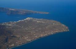 Widok z lotu ptaka małe wyspy fotografia stock