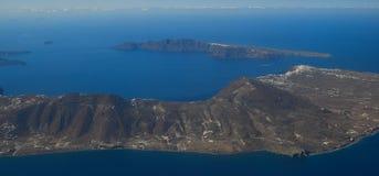 Widok z lotu ptaka małe wyspy zdjęcia stock