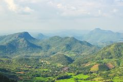 Widok z lotu ptaka mała wioska Fotografia Royalty Free