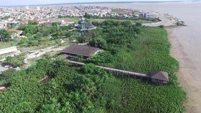 Widok z lotu ptaka Mangal das garas w Belm robią Równemu miastu Amazonki konserwacja Listopad, 2016 zbiory