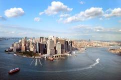 Widok z lotu ptaka Manhattan obrazy royalty free