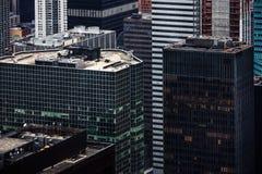 Widok z lotu ptaka Manhattan dachy Fotografia Stock