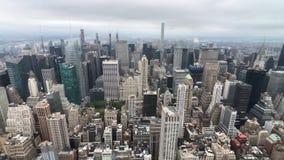 Widok z lotu ptaka Manhattan drapacze chmur zbiory wideo