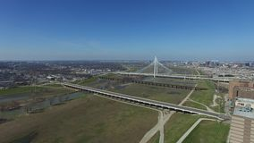 Widok z lotu ptaka Margaret polowania wzgórza most w Dallas zdjęcie wideo