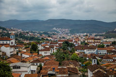 Widok z lotu ptaka Mariana miasto - minas gerais, Brazylia obrazy stock