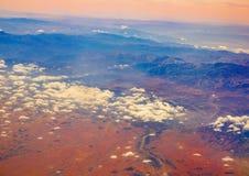 Widok z lotu ptaka Maroko atlant Afryka Zdjęcia Stock