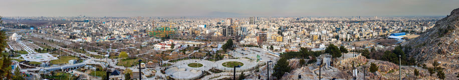 Widok z lotu ptaka Mashhad fotografia stock