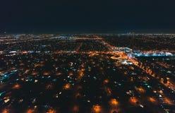 Widok z lotu ptaka masywna autostrada w Los Angeles Obraz Royalty Free