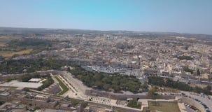 Widok z lotu ptaka Mdina zdjęcie wideo