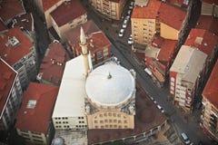 Widok z lotu ptaka meczet w Istanbuł stare miasto Obrazy Royalty Free
