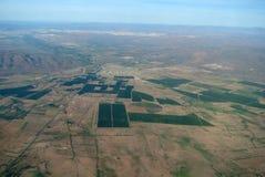Widok z lotu ptaka Meksykański krajobraz obrazy stock