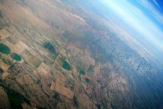 Widok z lotu ptaka Meksykański krajobraz obraz stock