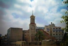 Widok z lotu ptaka Melkite Grecki katolik Archeparchy w Sidon, Liban obrazy royalty free