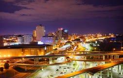 Widok z lotu ptaka Memphis śródmieście zdjęcia royalty free