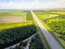 Widok z lotu ptaka Międzystanowi 10 południowych przez cały kraj międzystanowi zdjęcia royalty free