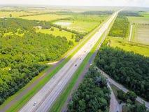 Widok z lotu ptaka Międzystanowi 10 południowych przez cały kraj międzystanowi obrazy royalty free