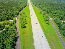 Widok z lotu ptaka Międzystanowi 10 południowych przez cały kraj międzystanowi fotografia stock
