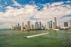 Widok z lotu ptaka Miami nabrzeże obraz royalty free