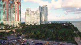 Widok z lotu ptaka Miami plaży Południowy park zbiory