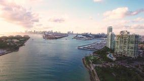 Widok z lotu ptaka Miami plaży Południowy park zdjęcie wideo