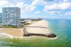 Widok z lotu ptaka Miami południe plaża, Floryda, usa obraz royalty free