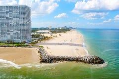 Widok z lotu ptaka Miami południe plaża, Floryda, usa fotografia stock
