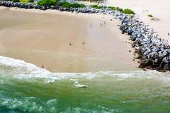 Widok z lotu ptaka Miami południe plaża, Floryda, usa fotografia royalty free